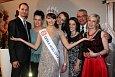 Česká Miss 2013 Gabriela Kratochvílová srodinou a přítelem (vlevo)