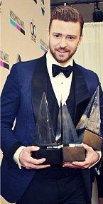Justin Timberlake si z galavečera odnášel tři trofeje