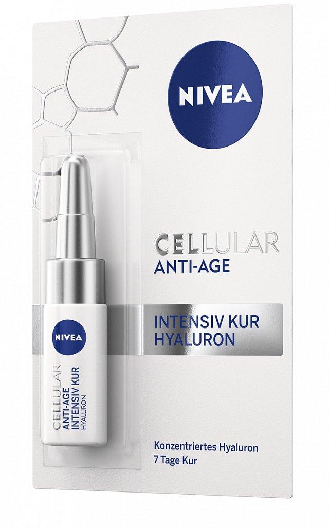 Intenzivní hyaluronová kúra CELLULAR ANTI-AGE, NIVEA, cena 150 Kč.