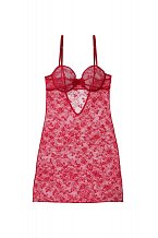 Ohnivě červená krajková noční košilka, cena: 1149 Kč