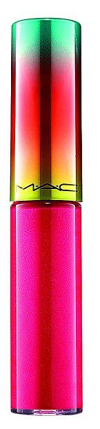 Perleťově transparentní růžový Lipglass odstín Domestic Diva z kolekce Wash & Dry, MAC, 500 Kč.