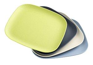 Luxurytable.cz - BBQ Sada velkých talířů z ekologické směsi platu a bambusu, 4 kusy, Villeroy & Boch, cena 800 Kč