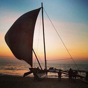 První zastávkou na jejich cestě po Srí Lance bylo Negombo.