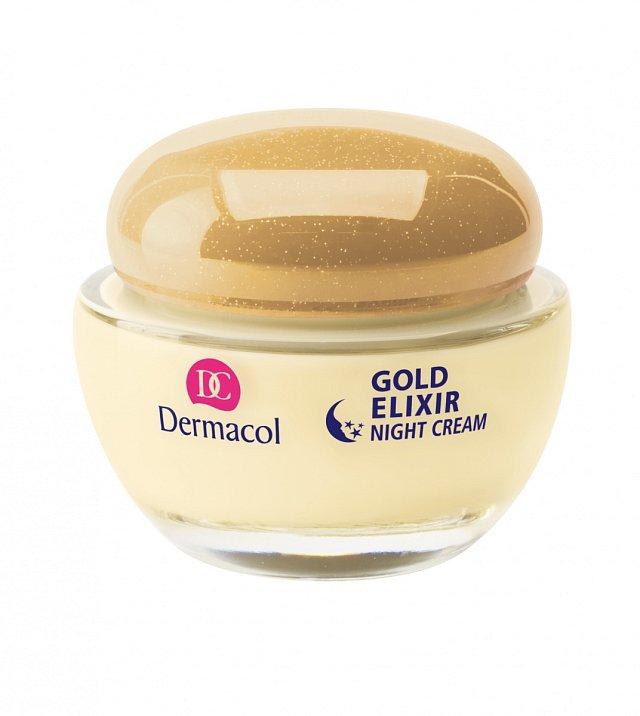 Noční výživný krém Gold Elixir Caviar Cream, Dermacol, cena 299 Kč.