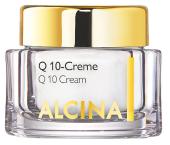 Krém Q10-Creme s koenzymem Q10, vitaminem E a bambuckým máslem zlepšuje vzhled unavené pleti, Alcina, 50 ml 998 Kč