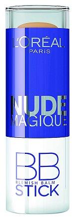 Nude Magique BB stic- kem, prvním BB krémem v tyčince. Jeho lehká kré- mová textura se na vaší pleti promění v pudr, který pomá- há pleť sjednotit a zmatnit. L'Oréal Paris, 300 Kč