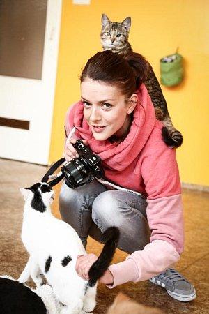Andrea Kerestešová o Vánocích přišla potěšit kočičí dámy a pány z útulku.