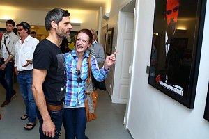 Andrea Kerestešová s přítelem Mikolášem si výstavu užívali.