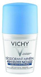 Minerální deodorant s optimální účinností a tolerancí bez kompromisů se svěží lehkou květinovou vůní. Vichy,