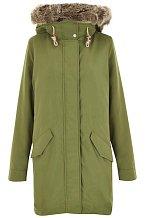 Zelený kabát s kapucí Levis. Info o ceně v obchodě.