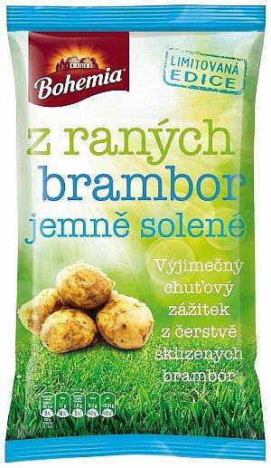 Limitovaná edice Bohemia Chips zraných brambor.