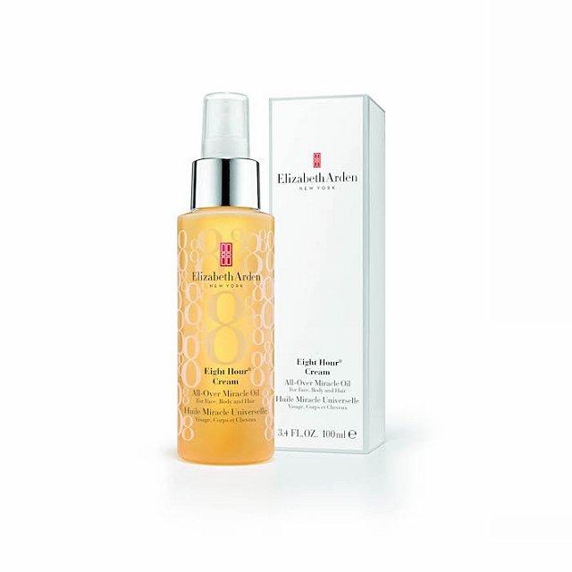 Multifunkční olej Eight Hour Cream All-Over Miracle Oil s použitím na obličej, tělo i vlasy, Elizabeth Arden, cena 990 Kč.