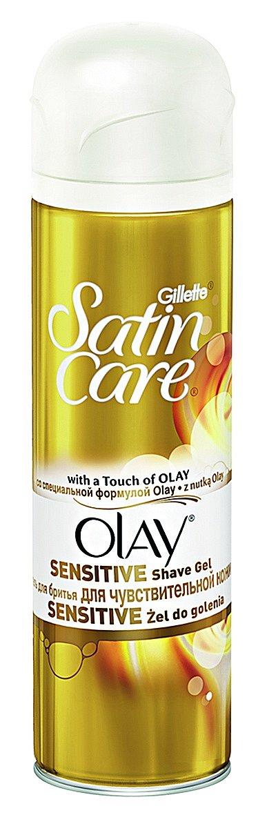 Sada na holení Gillette Venus & Olay pro citlivou pokožku se sklonem k podráždění, gel, Gillette, 200 ml 119 Kč, dámský holicí strojek, Gillette, 220 Kč.