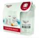 Cestovní balení Eucerin obsahuje tělové mléko, zmatňující emulzi na opalování, micerální vodu a depigmentační krém. Toto cestovní balení bude dárkem k nákupu výrobků Eucerin v hodnotě nad 699,- Kč.
