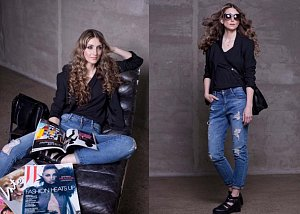 Během focení jsme měnili osmatřicetiletou módní návrhářku Moniku v módní ikonu Sarah Jessicu Parker.