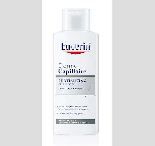 Šampon proti vypadávání vlasů DermoCapillaire, Eucerin, cena 305 Kč.