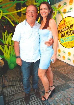 Petr Janda s manželkou Alicí.