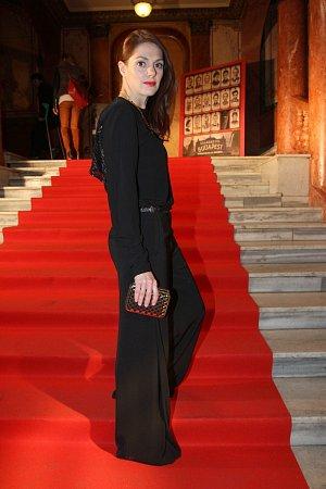 Klára Issová na premiéře filmu Grandhotel Budapest