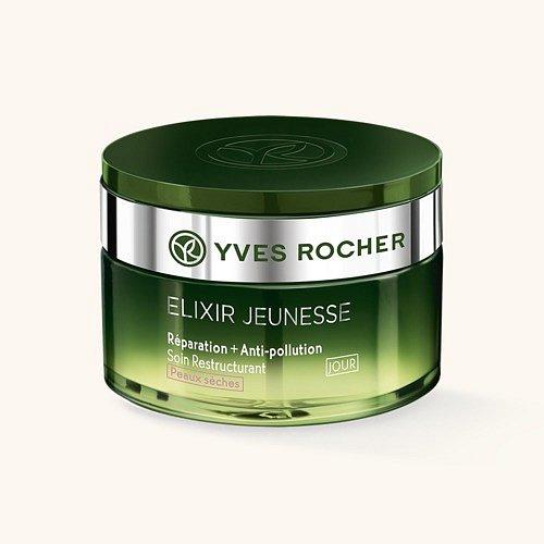 Denní omlazující péče na suchou pleť Elixir Jeunesse, Yves Rocher, cena 749 Kč.