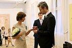 Svatba se natáčela v prosinci a nebyla nikterak veliká.