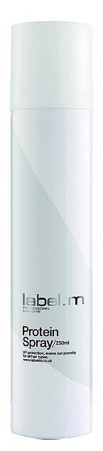 Proteinový sprej Protein Spray pro uhlazení a vyrovnání porézních vlasů, label.m, 250 ml 349 Kč