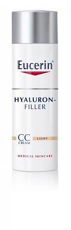 Novinka HYALURON-FILLER CC KRÉM nejen sjednocuje tón pleti, ale zároveň nabízí také účinnou péči proti vráskám, Eucerin, cena 755 Kč.