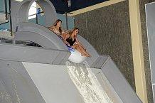 O adrenalinové zážitky nebyla v aquaparku nouze.