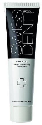 Regenerační zubní krém Crystal s bělicím efektem bez fluoridů, který zpevňuje strukturu skloviny a účinkuje jako noční kúra, Swissdent, 100 ml 590 Kč
