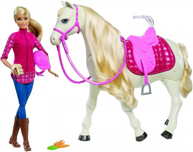 Kůň snů a panenka Barbie, Mattel, 2990Kč.