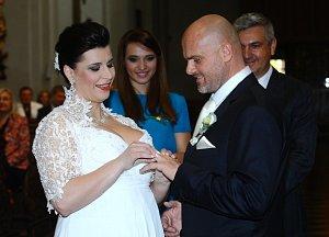 Andrea Kalivodová stihla svatbu ještě před narozením potomka.