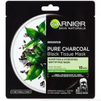 Černá textilní maska Pure Charcoal, Garnier, 60 Kč.