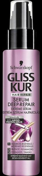 Vlasové sérum Gliss Kur Serum Deep Repair Extreme Serum Schwarzkopf. Cena 199,90 Kč.
