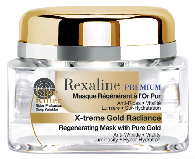 Regenerační a hydratační maska X-treme Gold Radiance, Rexaline, cena 50 ml 1.890 Kč. K dostání v síti Sephora.