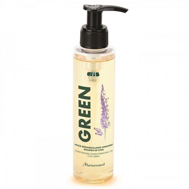 Jemný olejíček s extraktem z chia semínek Green Comfortable Make-Up Removal Oil, Marionnaud, cena 399 Kč.