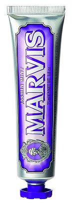 Bohatá krémová zubní pasta bez fluoridů Jasmin Mint s příchutí jasmínu a nádechem máty, Marvis, 75 ml 230 Kč