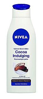 Tělové mléko obsahující kakaové máslo a vitamin E, Cocoa Indulging, Nivea, 120 Kč.