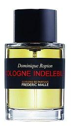 eotřelá Cologne Indelebile má pižmový základ doplněný o nejkvalitnější esenciální olej neroli, doplněný květem pomerančovníku, citronu, kalabrijského bergamotu a vzácnou esencí narcisu, Frederic Malle, Ingredients, 100 ml 4900 Kč.