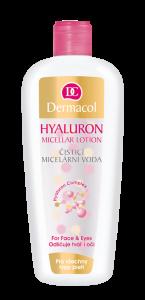 Čisticí micelární voda s kyselinou hyaluronovou, Dermacol, cena 179 Kč.