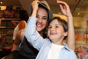 Vojtková se synem Matyášem