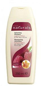 Šampon pro zvětšení objemu s malinou a ibiškem pro jemné nebo mastné vlasy. Cena 79 Kč.