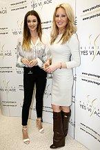 Iva Kubelková se Simonou Krainovou, hlavní tváří kliniky Yes Visage.
