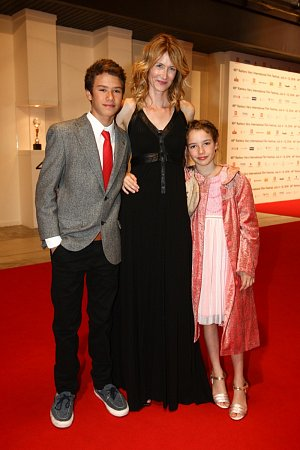 Hollywoodská star Laura Dern a její ratolesti Jaya Harper, Ellery Walker Harper