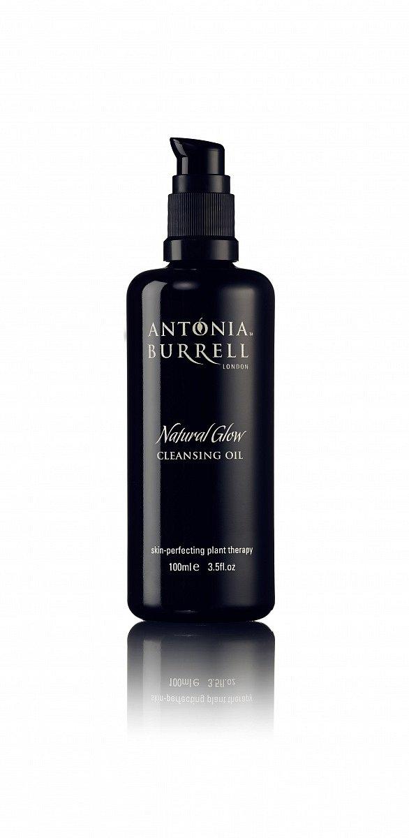 Čistící olej Natural Glow Cleansing Oil Antonia Burrell, cena 1380 Kč, www.myskino.cz.