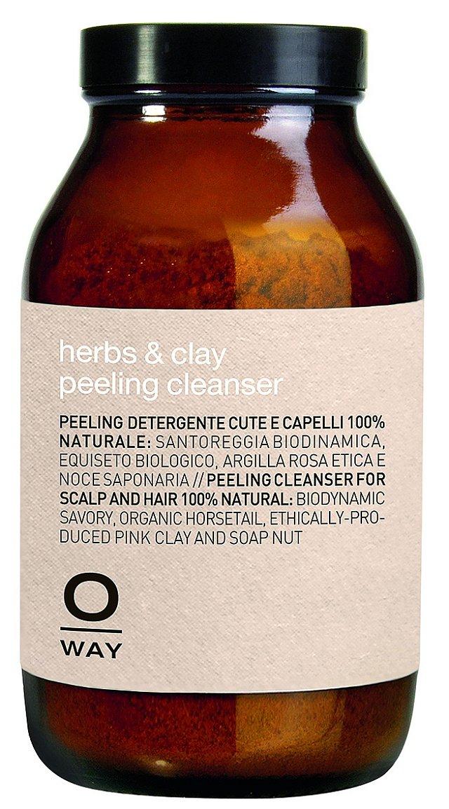 Suchá směs mikronizovaných bylin Herbs and Clay Peeling Cleanser na vlasovou pokožku, Oway Rolland, 160 g 1530 Kč