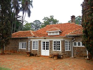 Farma Karen Blixen – zadní část domu