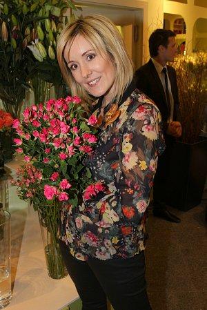 5. 2. 2013, Praha, CR. Otevreni kvetinarstvi Belles Fleurs. Jovanka Vojtkova.
