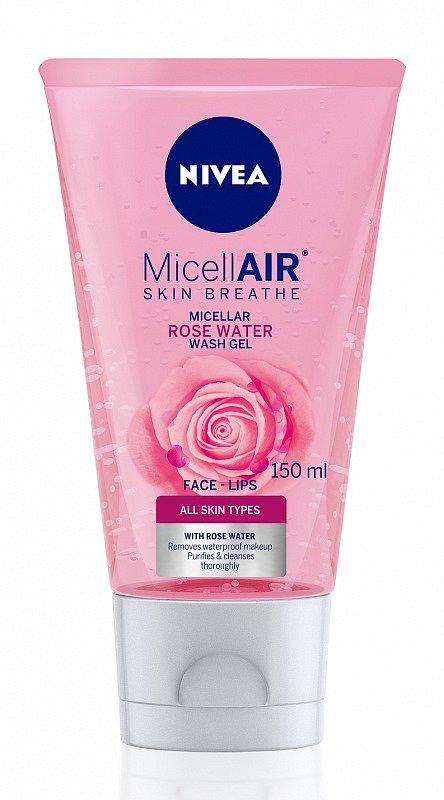 Čistící micelární gel, Nivea, 140 Kč