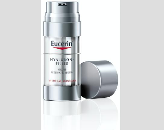 Noční obnovující & vyplňující sérum Eucerin Hyaluron-Filler, 936 Kč.