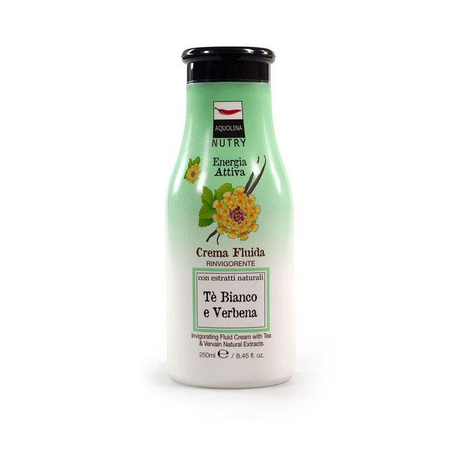 Tělové mléko White Tea and Vervain Nutry značky Aquolina, cena 279 Kč, k dostání v síti Fann.