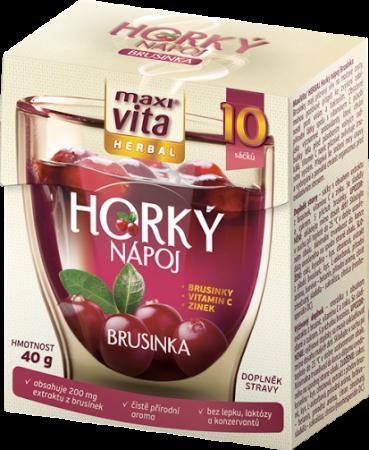 Horký nápoj Maxivita herbal brusinka